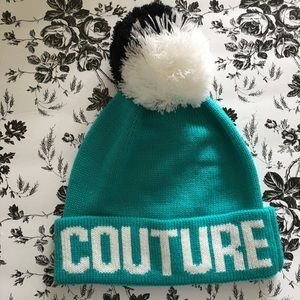 """Juicy Couture Blue Cuff Pom """"JUICY COUTURE"""" Hat"""